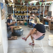 potter's wheel demonstration at eastnor pottery