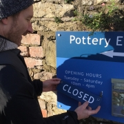 jon the potter from eastnor pottery prepares to close for lockdown #2 5th nov - 2nd dec 2020