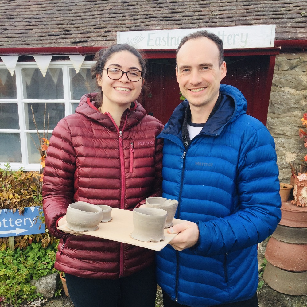 couple take a mini-moon honeymoon to make pottery at eastnor pottery