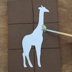 step by step guide to make giraffe tiles