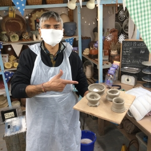 pottery lesson at eastnor pottery