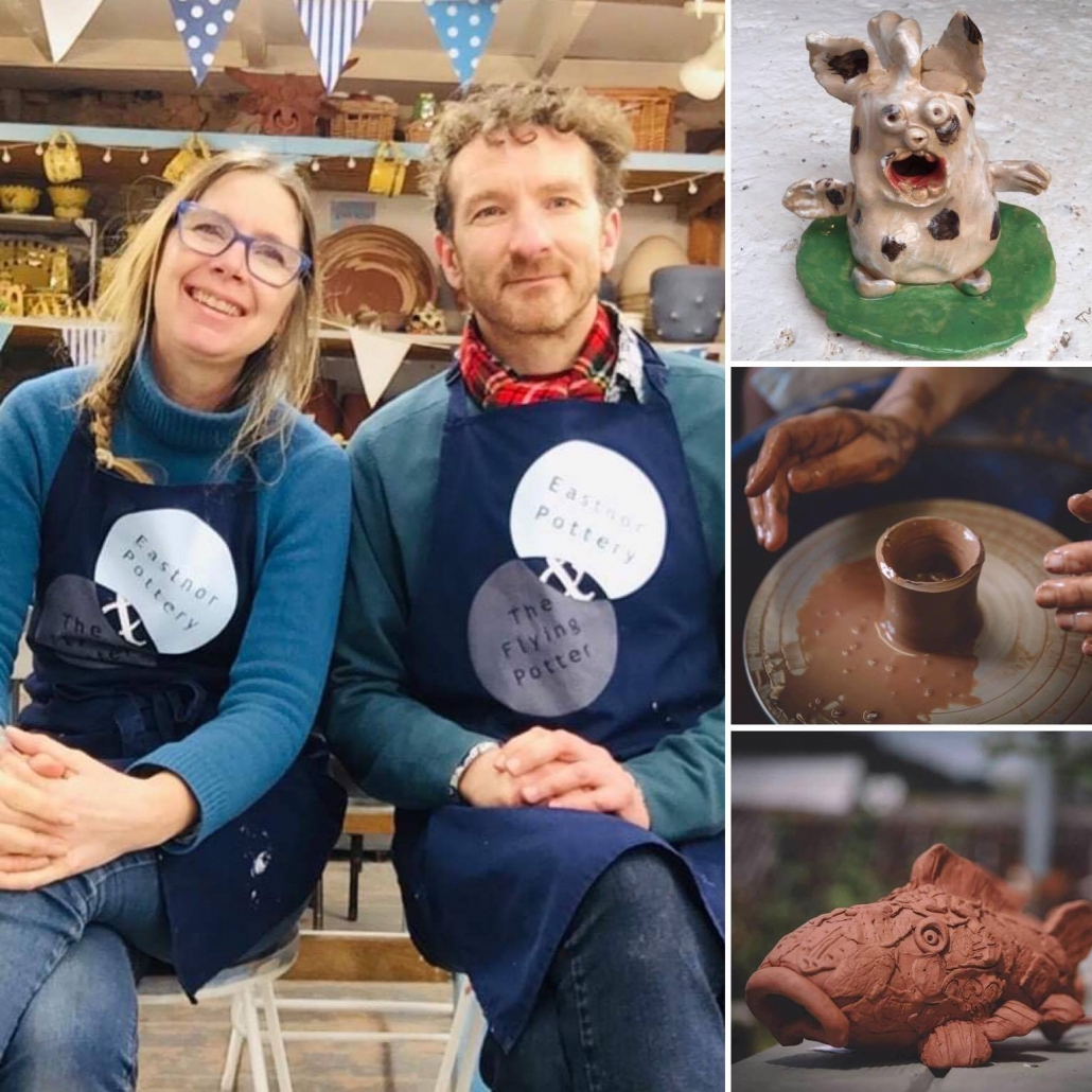 sarah monk and jon williams from eastnor pottery