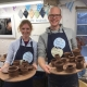 a couple gift each other a potter's wheel experience at eastnor pottery for valentines
