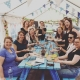 pottery hen party in the potting tent at eastnor pottery and the flying potter