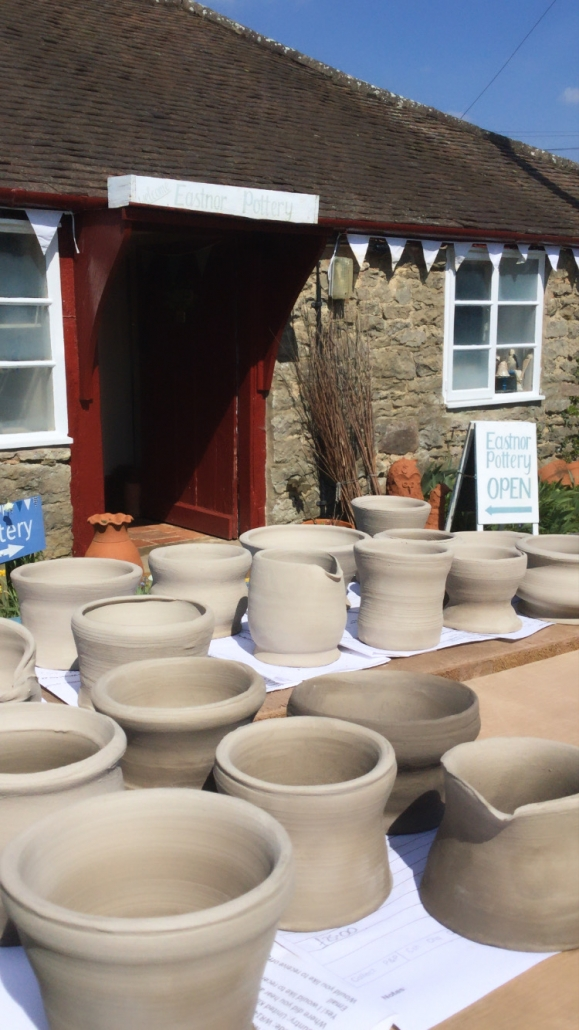 pots made by intoduction to the potters wheel class at eastnor pottery