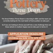 call for applications for next series of pottery throwdown