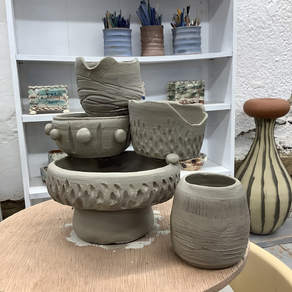 pottery piece created on weekend pottery course