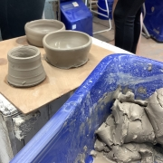 thrown pots made on pottery hen party and some that didn't make the leaders board!